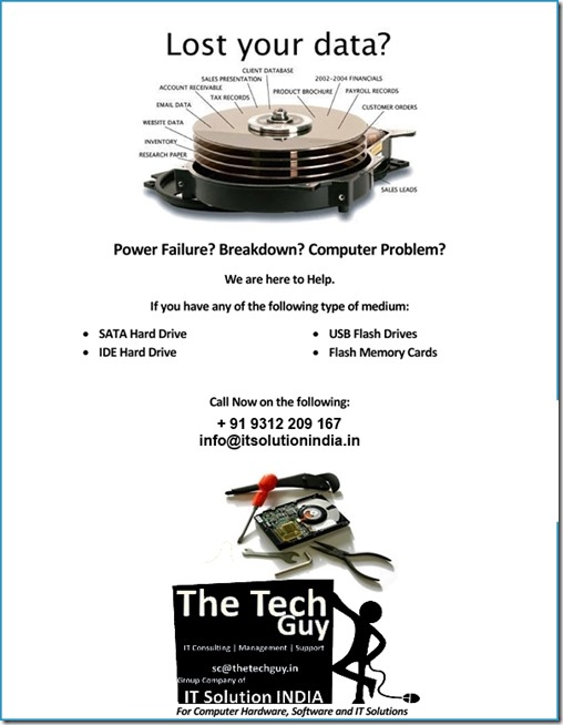Lost Data Recovery Services