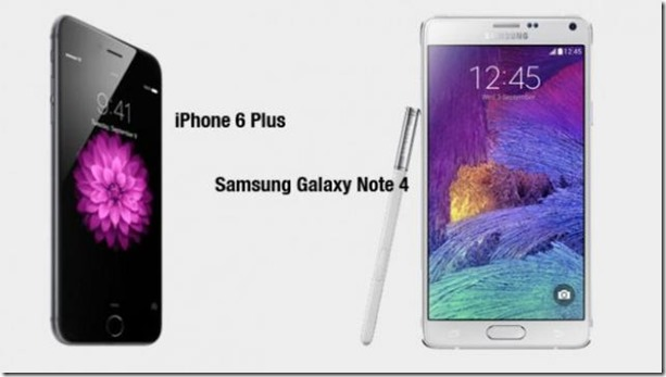 Apple iPhone 6 Plus vs Samsung Galaxy Note