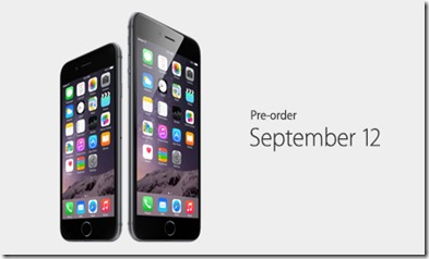 Pre-order your iPhone 6 starting September 12