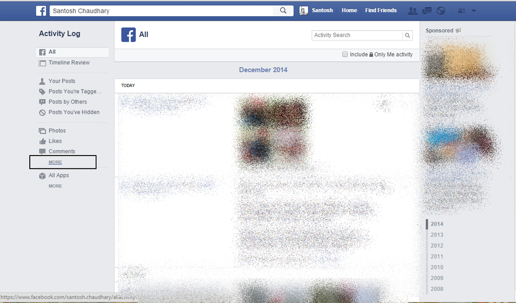 how to delete everything on your facebook page