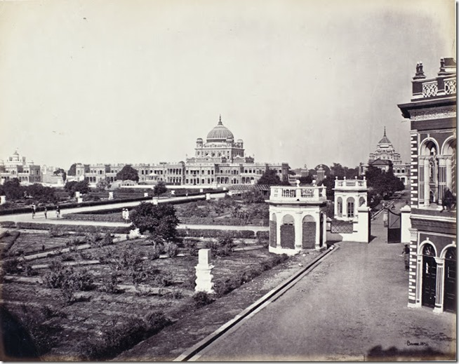 View-in-the-Qaisar-Bagh-Palace-Lucknow-1860s