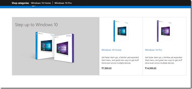 Windows 10 India Price