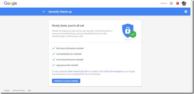 Google Account Security Checkup
