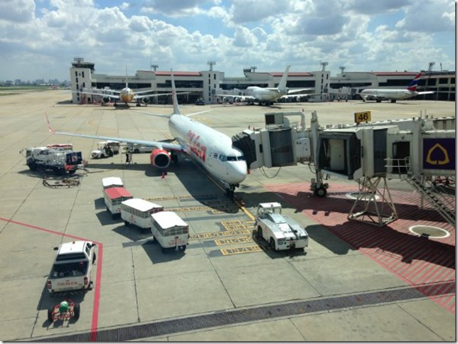 The Airbridges are on the left side of the plane.