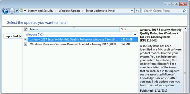 Cumulative updates are the new standard in all supported Windows versions.
