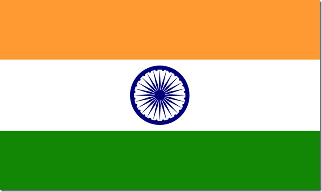 8.The flag of sovereign India (1947)
