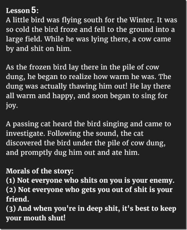 5 Hilarious Fables Teach Valuable Lessons That Everyone Should Know 05